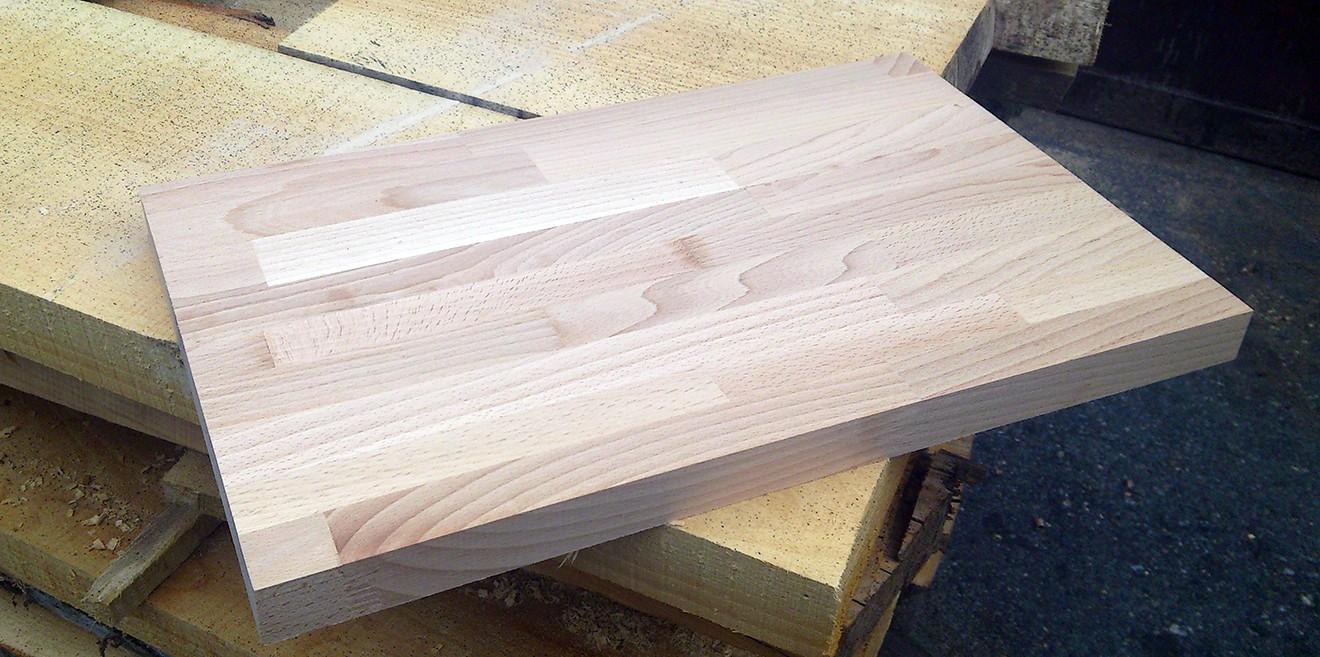 Деревянный клееный мебельный щит из дуба, бука, ясеня